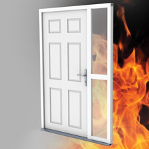 Fire protection locking system