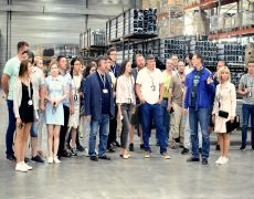 do galerii230x180Participants of Techno tour at the plant of UralSiberian profile company in Yekater